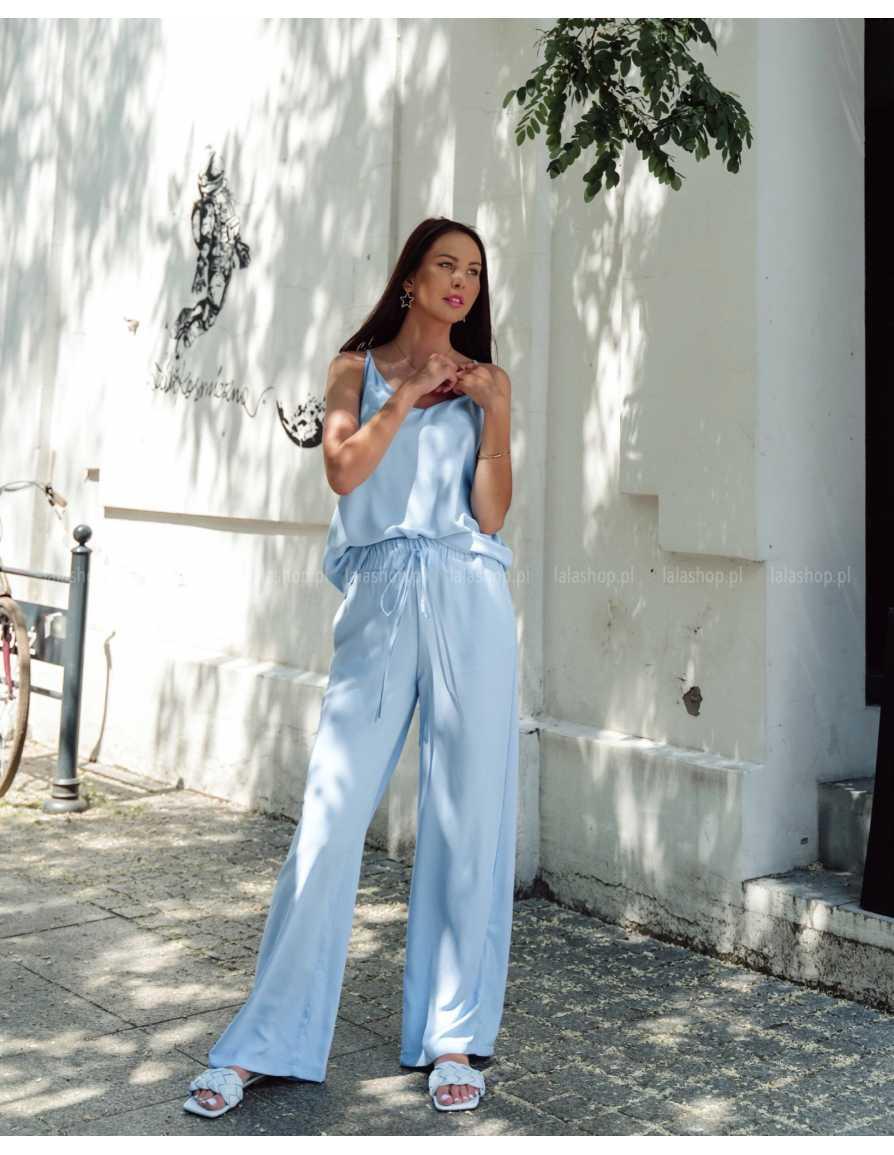 Komplet spodnie i top niebieski