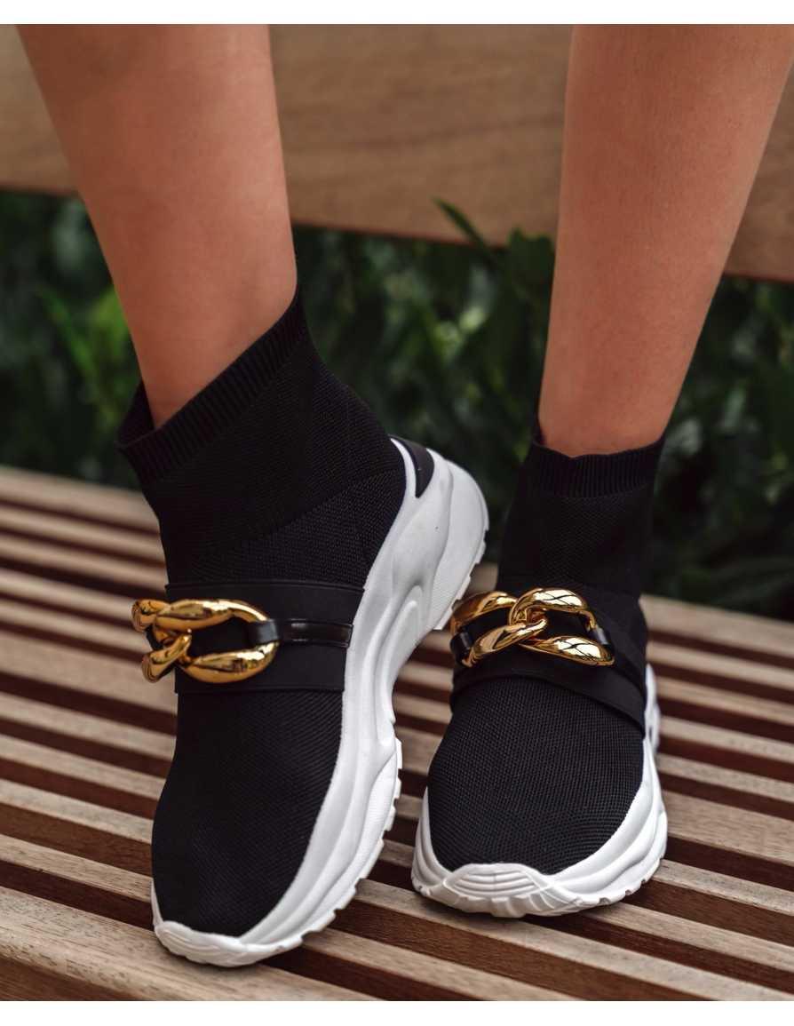 Buty wsuwane sneakersy czarne