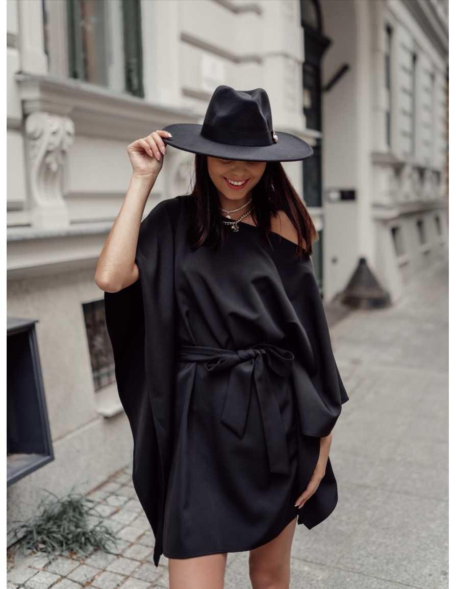 Sukienka kimono KITSUNE czarna