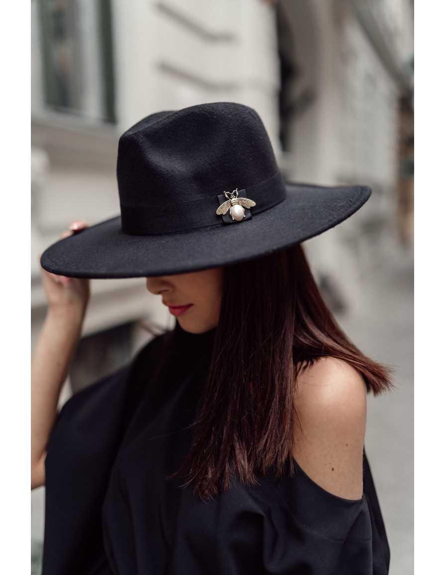 kapelusz la demoiselle czarny