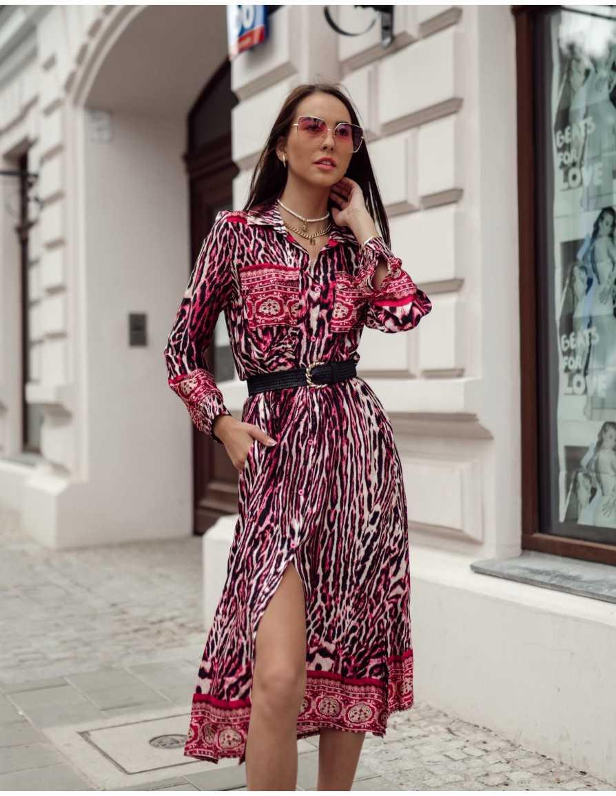 Sukienka PANTERA różowa