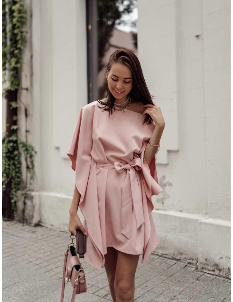Sukienka kimono KITSUNE różowa