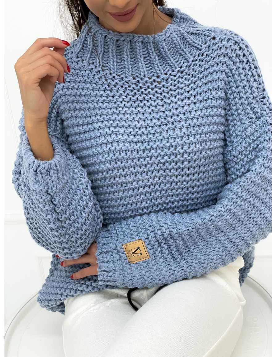 Sweter VELSATINO Love niebieski