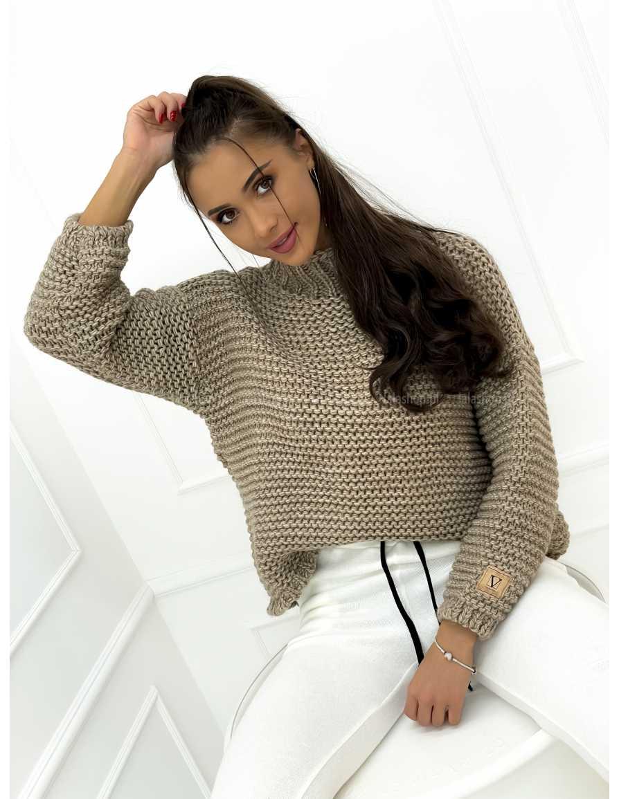 Sweter VELSATINO mocca