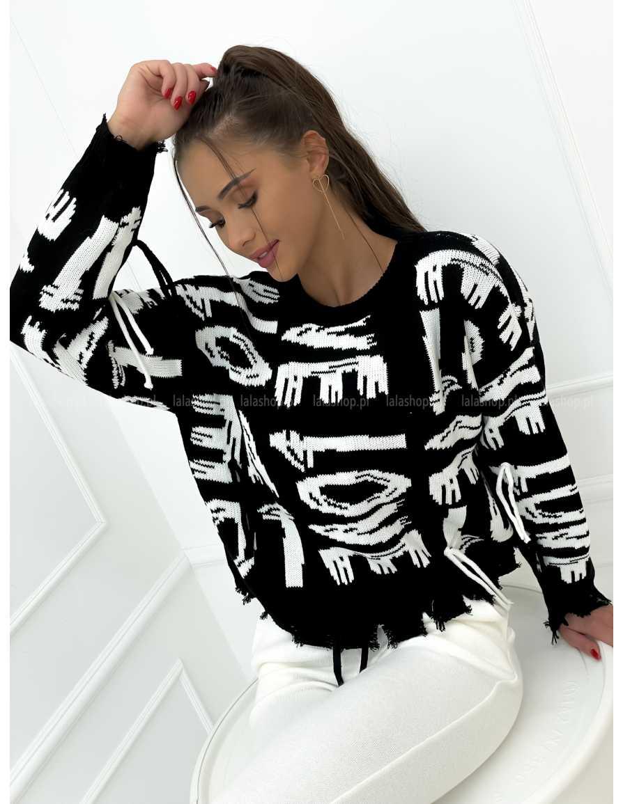 Sweter VELSATINO LOVE czarny