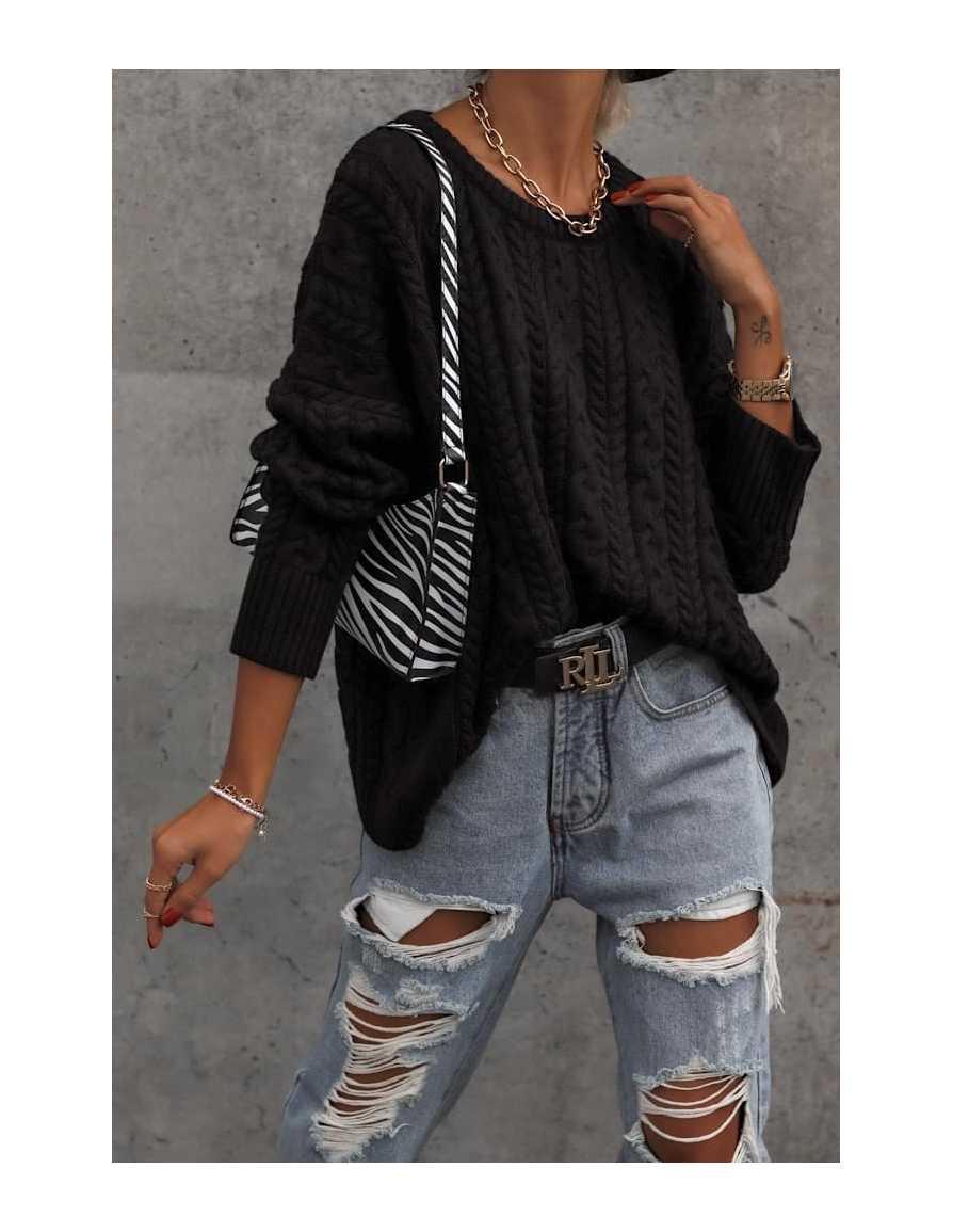 Sweter BRAID czarny