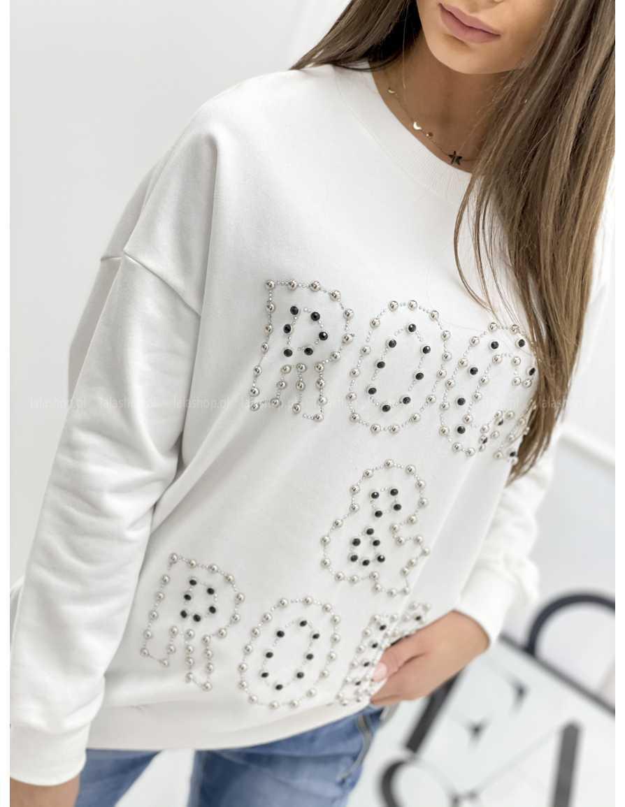 Bluza ROCK & ROLL biała