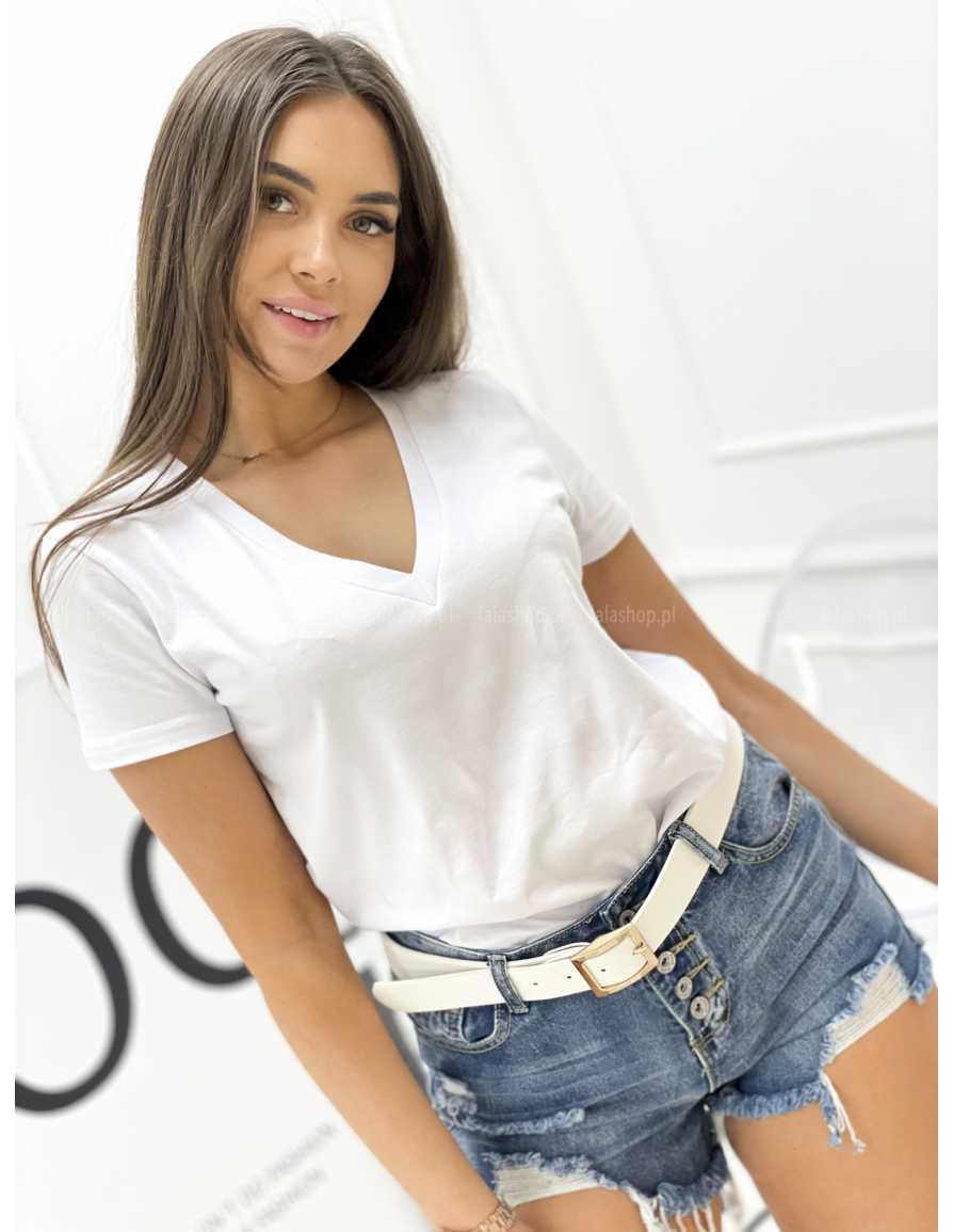 Bluzka BASIC biała w serek