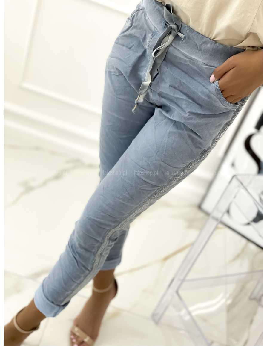 Spodnie gnieciuchy RILEY niebieskie
