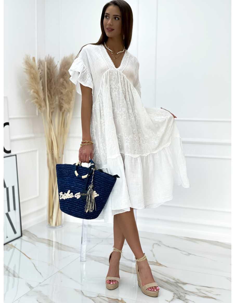 Sukienka ABIGAIL LNIANA biała